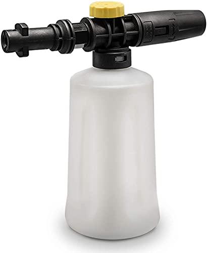 YUET Bottiglia di sapone per auto ad alta pressione, 700 ml, con ugello a getto di spruzzatore regolabile, per Karcher K2 K3 K4 K5 K6 K7
