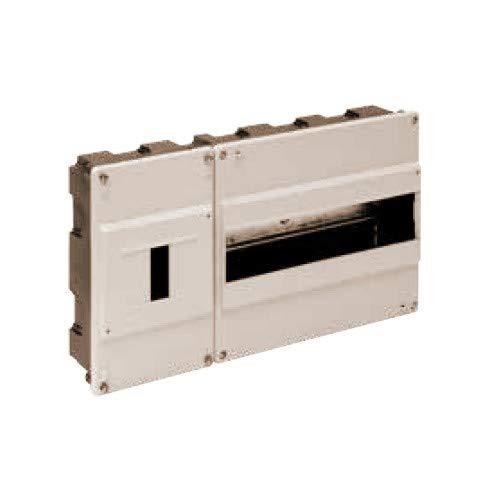 Solera 680 - Caja para ICP y distribución. ICP de 1 a 4 elementos y hasta 40A. 348x188x55.Marfil. Empotrar.