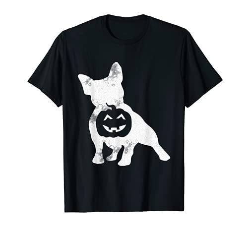 French Bulldog Lazy Halloween Costume Cute Frenchie Pumpkin T-Shirt