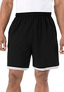 KingSize Men's Big & Tall Hang-Down Lightweight Shorts, Black Big-5XL from KingSize