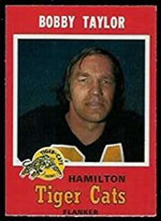 1971 O-Pee-Chee CFL (Football) card#64 Bob Taylor of the Hamilton Tiger Cats Grade Excellent to Excellent Mint