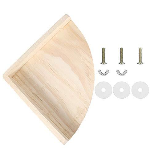 FTVOGUE Soporte de madera para perca, juguete de esquina, plataforma de madera,...