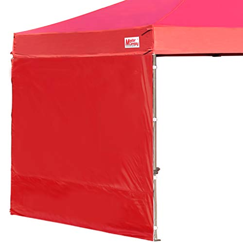 MASTERCANOPY Instant Canopy Tent Sidewall for 10x10 Pop Up Canopy,1 Pack (Burgundy)…