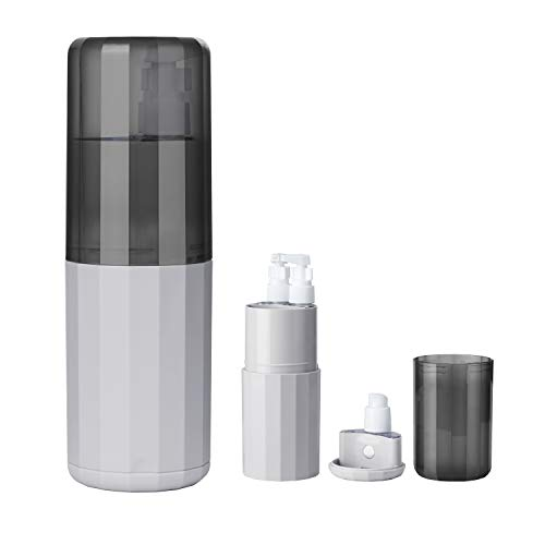 8 in 1 Portable Electric Toothbrush Cup Wash Set Storage Case Unique Design Travel Kit Packing Bottles Organizer Multifunction Toothcup Holder Containers for Travel Trip Camping Gym(Gray)