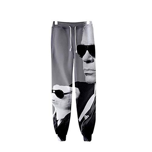 W&TT Männer 3D HD gedruckt Sweatpants elastische Taille Kordelzug Hose Hosen (XXS-XXXL),H,XXS