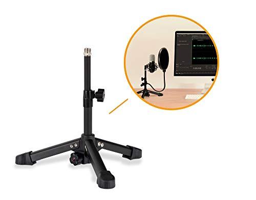 Pronomic MST-320 Mikrofon Tischstativ - Tischständer Ideal für Podcasting, Recording und Gaming - Mikrofonständer Höhenverstellbar von 26-42 cm - Stabile Metallkonstruktion mit Gummifüßen