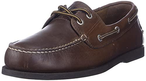 Dockers Men's Vargas Leather Handsewn Boat Shoe,Rust, 10.5 M US