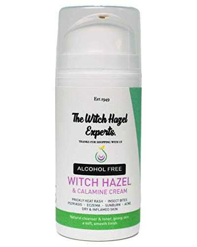 The Witch Hazel Experts   Alcohol Free Witch Hazel & Calamine Cream 100ml   Soothe Irritation & Haemorrhoids