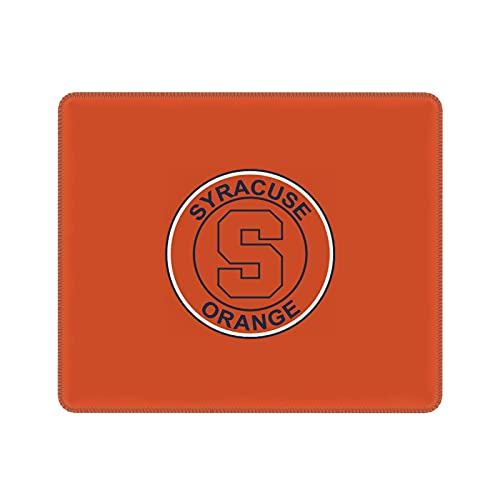 Syracuse Fans Orange Mousepad Gaming with Stitched Edge Mousepad Waterproof