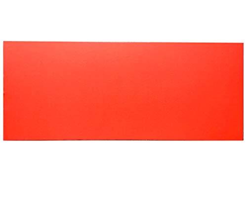 ダンボール 板 工作 アート用 カラー 両面赤色 レッド 33cm×80cm 厚さ1.5mm 10枚セット