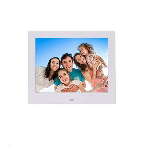 Hahaiyu 8 Pulgadas Marcos de Fotos Digitales (1024 × 768 resolución) LCD Comercial Super Estante Publicidad máquina LED álbum de Fotos electrónico,White