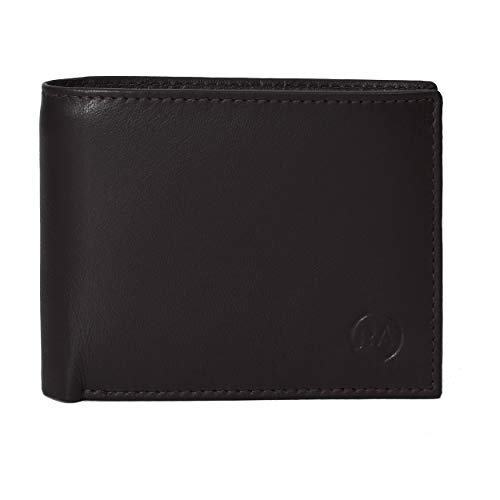 Rustic Ambrose Bifold RFID Leather Wallet with 13 card slots and 1 zip section and 2 currency slots