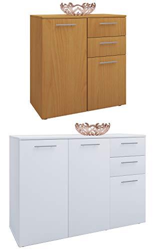 Preisvergleich Produktbild VCM Sideboard Kommode Universal Schrank Regal Breite 106 cm: Buche