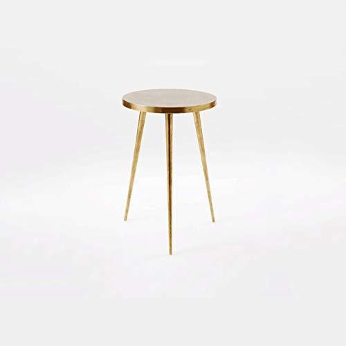 SZQ-Table Basse Mini-table ronde ronde en métal lisse sans table basse Burr Simple Loisirs Salon Studio Hôtel Bar Table à thé Table de sofa (Size : 40 * 40 * 55CM)