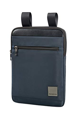 "SAMSONITE Hip-Square - Tablet Cross-Over L 9.7"" Bolso Bandolera, 29 cm, 3.5 Liters, Azul (Dark Blue)"