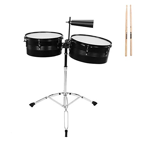 Timbales, RiToEasysports LADE Percussion Instrument Timbale Drum Set