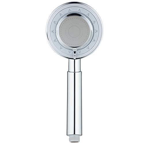Aluminium Metalen Douchekop Handheld, Booster Hogedruk Douchekop Regen, Douchekop Wasbaar Badkamer Sproeisproeier, Beste Ionische SPA-Ervaring,Silver