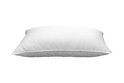 Ella Jayne Home King Size Bed Pillow- Single White Hotel Pillow- Gel Fiber Filled FIRM Gel Pillow with Hypoallergenic 100% Cotton Dobby Box Cover- Best Pillow For Side Sleepers & Back Sleepers