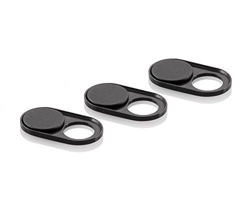 soomz Webcam Cover, Ultra-Thin voor Laptop, PC, MacBook, iPhone, iMac, iPad, Smartphone, Bescherm uw privacy & beveiliging, Sliding Cover - Zwart Metaal - Goede grip & Sterke lijm - Premium kwaliteit