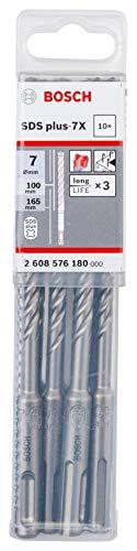 Preisvergleich Produktbild Bosch Professional 10 tlg. Hammerbohrer SDS Plus-7X (für Beton und Mauerwerk,  7 x 100 x 165 mm,  Zubehör Bohrhammer)