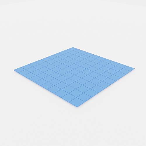 Generic eFUTURA 100 unidades 10 x 10 x 1 mm Almohadillas de silicona térmicas suaves almohadillas de refrigeración para GPU LED PSU TV Módulo DDR Chip IC - Azul