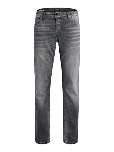 JACK & JONES Herren Regular fit Jeans Clark ORIGINAL JOS 183 3834Black Denim