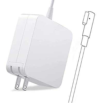 Mac Book Pro Charger, Ac 60W Power Adapter Magnetic Connector with 13-inch for Mac Book Pro Before Mid 2012 Models (L-Tip & White)