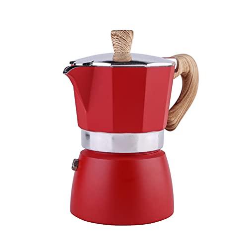 YONGLI 3/6cups Aluminum Italian Moka Espresso Coffee Maker Percolator Stove Top Pot 150/300ML Kitchen Tools Stovetop Coffee Maker (Color : 04 300ml)