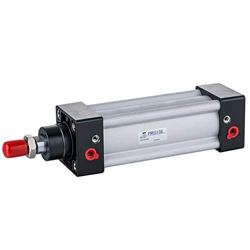 YEZIN Accesorios neumáticos SI80X150-S ISO15552 80 mm Diámetro x 150 mm Movimiento 3/8'NPT Cilindro de Aire de Doble Efecto
