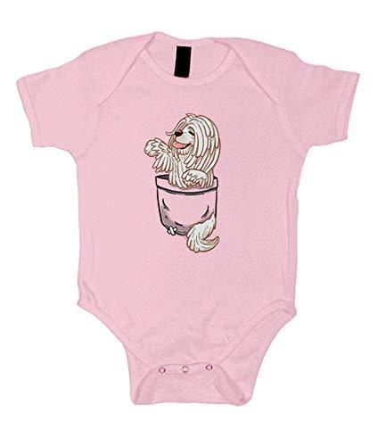 tostadora - Body Tasche Niedlichen Komondor Hund - Baby Rosa XL