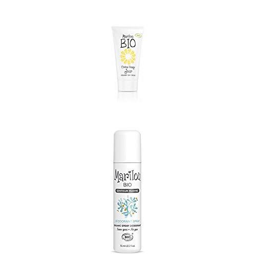Duo de produit de beauté MARILOU BIO - Gamme Classic - Crème de jour - Déodorant Senteur Marine