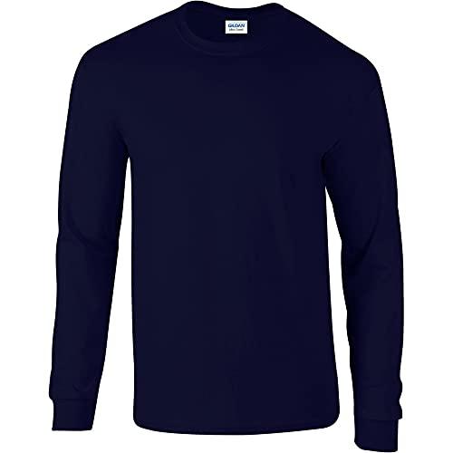 Gildan Soft Style L, Camiseta para Hombre, Azul (Marino), Large