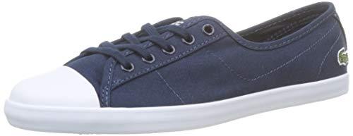 Lacoste Womens Ziane BL 2 CFA Sneaker, Blau (Navy/White), 39 EU