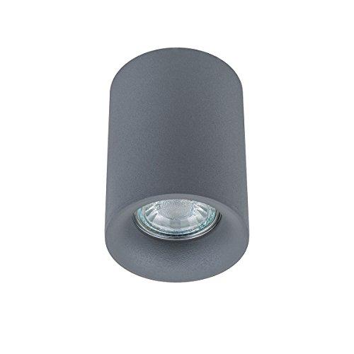Italux Flynn - Moderno LED gris de 1 luz para montaje en superficie, GU10