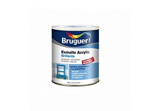 Bruguer M117669 - Esmalte acrylico brillante blanco 750 ml
