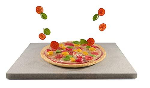 Splittprofi Pizzastein 40x30x2cm | Premium Naturstein rechteckig für Backofen Gasgrill Steinofen | Brotbackstein Grillstein Steakstein heißer Stein XXL spülmaschinenfest