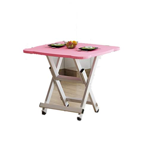 SMEJS Mesa Plegable del hogar Comer Simple Tabla Small Family Mesa de Comedor al Aire Libre Mesa Cuadrada Plegable Simple 4-Persona de la pequeña Tabla (Color : B)