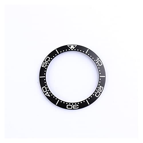 ZRNG Inserto de Aluminio de 39.5-32mm para un Ajuste de marcación de 42 mm para Omega Bisel Sea Master 007 Reloj de Cara Especial Reemplazar Accesorios Piezas Anillo (Color : Black)