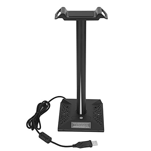 Gedourain Support de Casque de Jeu, Nouveau Support de Casque Audio 3,5 mm, Interface USB Double pour Casque pour Casque de Jeu