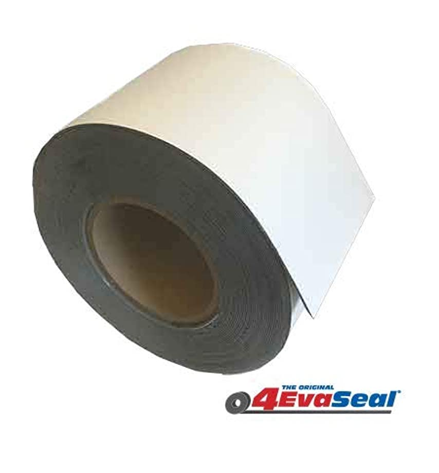Multi-Purpose Rubberized Roofing and Waterproofing Tape Stops Leaks ! - Roof RV Camper Awning Tarp Boat Repair - White 4in x 50 ft
