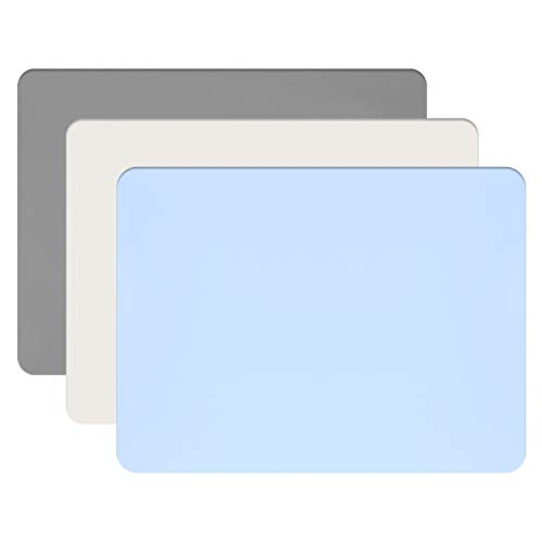 Silicone Crafts Mat, Gartful Silicone Sheets for Crafts, Painting, Nail Arts, Clay, Resin Jewelry Casting Molds Mat, Table Pad Placemat, Nonstick Nonslip, Gray & Beige & Light Blue (15.7x11.8 inch)