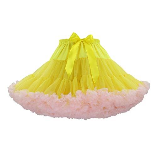 LaoZan Volwassenen Dames Pettiskirt Tutu Rok Tule Cosplay Petticoat Rok Dans Rok