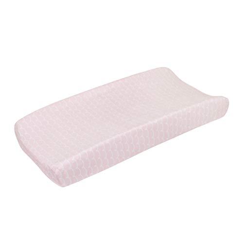 NoJo Sugar Reef Mermaid Super Soft Changing Pad Cover, Pink, White
