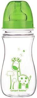 كانبول بيبيز ، رضاعة مضادة للمغص رقبة عريضة اخضر، 300 مل_35/204