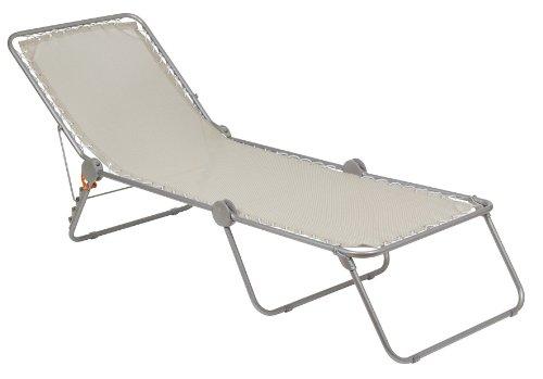 Lafuma Lit de soleil, Position réglable, Structure en acier HLE, Batyline, SIESTA L, Couleur : Seigle, LFM22931685