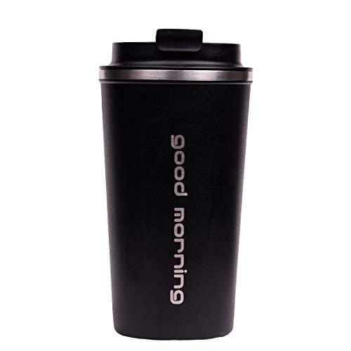 Good Morning Travel Mug/Kaffee Becher Thermo Isolierbecher, Fassungsvermögen: 510 ml, hält 8h heiß/ 12h kalt, 100% dicht, auslaufsicher
