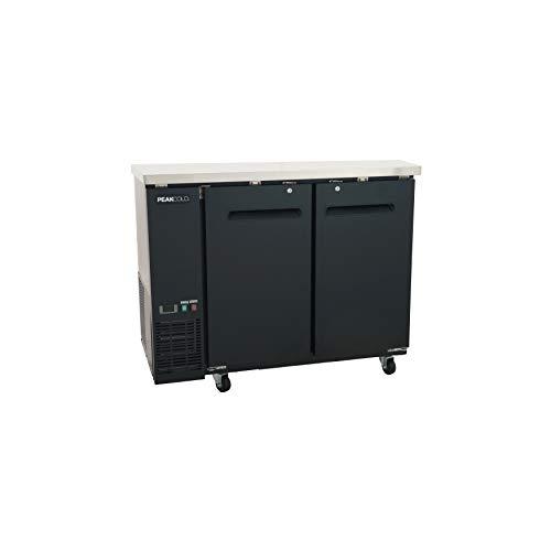 PEAK COLD 2 Door Commercial Back Bar Cooler - Beer Fridge - Under Counter Refrigerator; 48' W