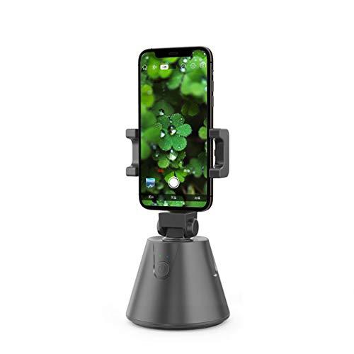 JXILY Gimbal Stabilizer Negro Face Recognition Smart Portable 360° Seguimiento Automático Selfie Stick Soporte para Teléfono Móvil Trípode,Streaming En Tiempo Real, Vídeo Vlog Live Makeup