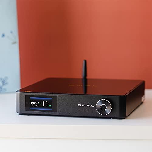 S.M.S.L M400 MQA Audio DAC, AK4499 Chip Full Balanced Hi-Res Decoder, APTX-HD Bluetooth 5.0, Support MQA decoding DSD512 32Bit/768kHz,Coaxial Optical HiFi Music USB DAC XMOS