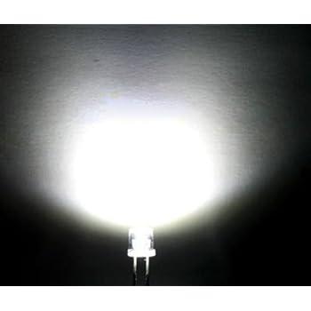 20PCS F3 3MM FLAT TOP LED WHITE SUPER BRIGHT Wide Angle Leds Lamps NEW